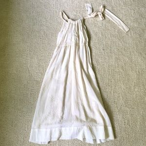 Cotton silk Theory beaded sun dress